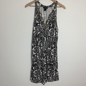 LUCKY BRAND black and white dress